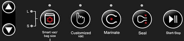 Wevac CV10 Chamber Sealer Control Panel