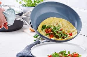 Nonstick pan w/eggs - What is PFOA? A Guide to Chemicals in Nonstick Cookware