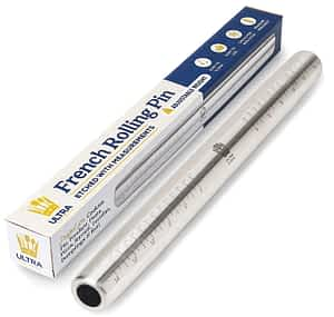 Stainless French Rolling Pin w:Measurements