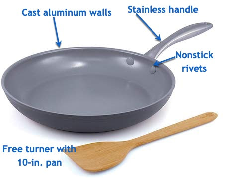 GreenPan skillet with callouts - Best Frying Pan in Every Category