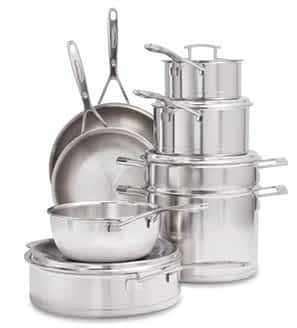 Sur la Table Silver7 12 pc set: Top 5 Brands of Clad Stainless Cookware (And Why You Should Buy Stainless)