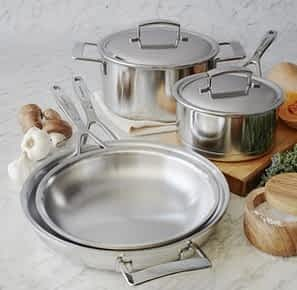 Sur la Table Silver7 set: Top 5 Brands of Clad Stainless Cookware (And Why You Should Buy Stainless)