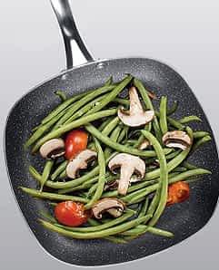 GraniteStone Square Pan  W/Veggies