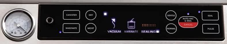 Avid Armor A420 vacuum sealer control panel