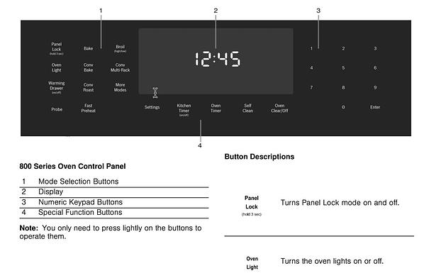 Bosch Induction Range Oven Controls