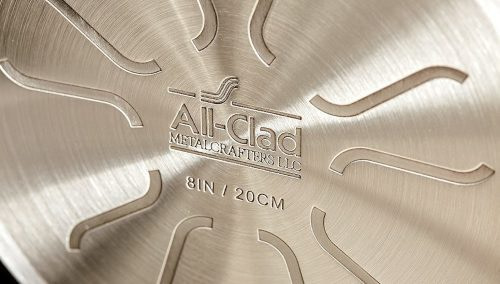 All Clad Cast Aluminum Nonstick Skillet Bottom View