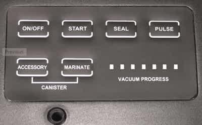 Pro Advantage control panel: Weston Vacuum Sealer Reviews: The Comprehensive Buyer's Guide