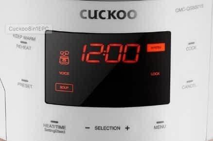 Cuckoo multicooker control panel