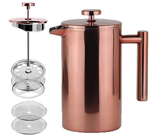 Rational Kitchen 2019 Ultimate Gift Guide copper French press