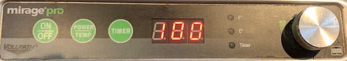 Vollrath Mirage Pro control panel