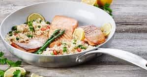 GreenPan with salmon
