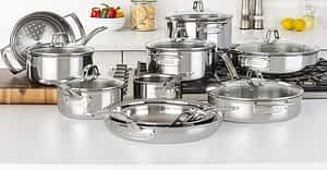Viking 17pc Tri Ply cookware set