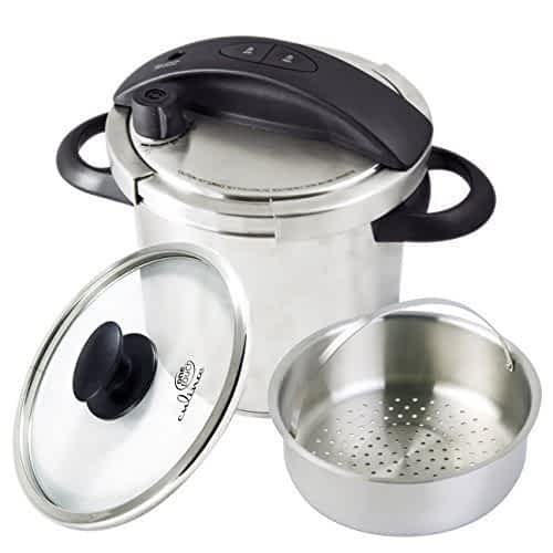 Culina pressure cooker, basket and glass lid included