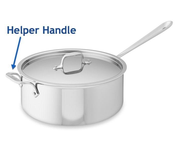 Saucepan with Helper Handle