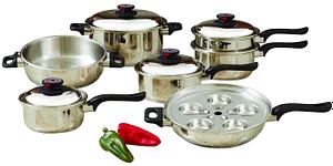 World's Finest 17 pc waterless cookware set