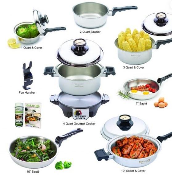 Kitchen Craft waterless cookware set