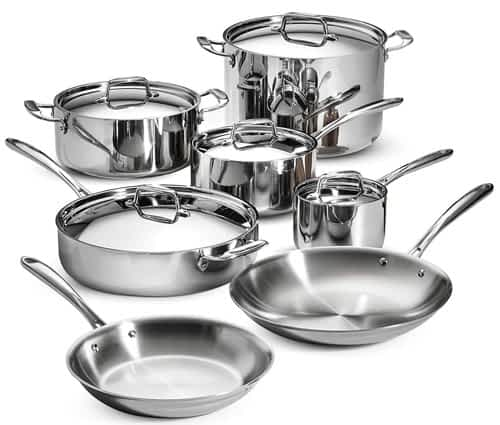 Tramontina Tri-Ply Clad 12pc set best cookware brands