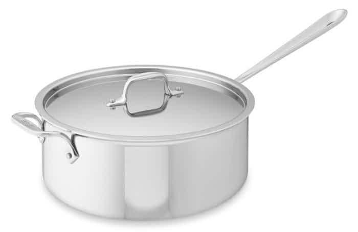 All Clad deep saute pan w/helper handle