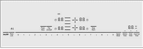 Bosch Induction Range Reviews: cooktop controls