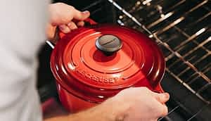 Le Creuset in oven - Best Pans without Teflon