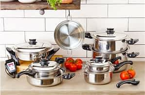 Saladmaster waterless cookware set: Cookware Made in the USA