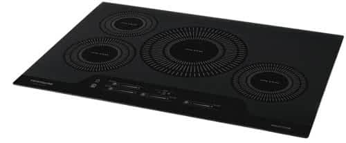 Frigidaire Gallery induction cooktop, angled view: Best Full-Sized Induction Cooktops