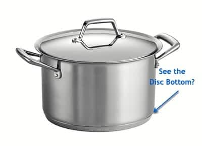 disc clad callout: Tramontina Tri-Ply Clad Stainless Cookware: A Comprehensive Review
