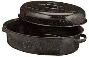Granite Ware Roaster Pan--porcelain coated stoneware cookware