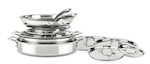 All-Clad D3 Compact set: Top 5 Brands of Clad Stainless Cookware (And Why You Should Buy Stainless)
