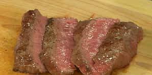 Sliced steak made in GraniteStone pan