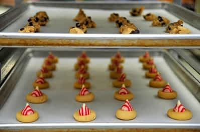 cookies on baking sheets