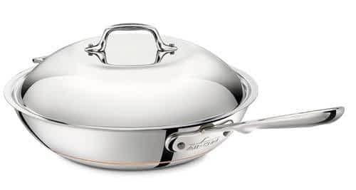 All Clad Copper Core Chef's Pan