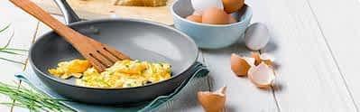 Green Pan w/Eggs - Best Frying Pan in Every Category