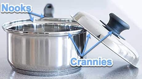 VapoSeal cookware with callouts (hard to clean) Waterless Cookware: A Detailed Analysis
