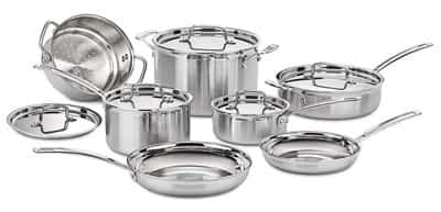 Cuisinart Multiclad Pro 12 pc set: Top 5 Brands of Clad Stainless Cookware (And Why You Should Buy Stainless)