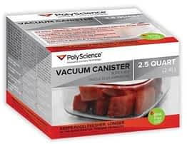 PolyScience 300 canisters: The Best Commercial Vacuum Sealer for Home Use