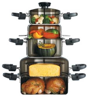 stacked waterless cookware Waterless Cookware: A Detailed Analysis