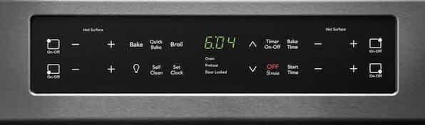 Frigidaire Induction Range Control panel