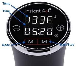 Instant Pot AccuSlim SV Circulator Controls