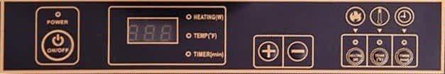 Duxtop 8100MC Control Panel