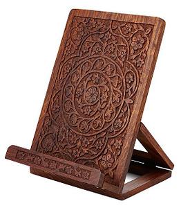 Hand Carved Cookbook Holder
