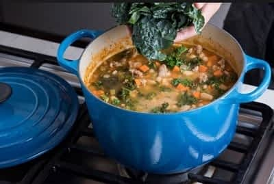 Le Creuset on stovetop