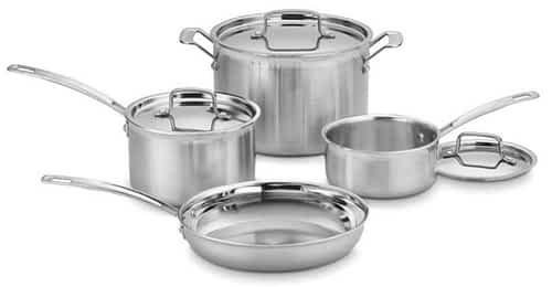 Cuisinart Multiclad Pro 7 pc set - best induction cookware