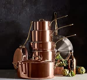 Mauviel150C12PcSetWS Rational Kitchen 2019 Ultimate Gift Guide Mauviel copper set
