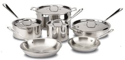 All Clad D3 10pc set: Top 5 Brands of Clad Stainless Cookware (And Why You Should Buy Stainless)