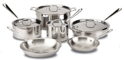 All Clad D3 stainless steel cookware set