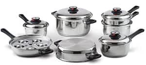 Maxam 17 pc waterless cookware set