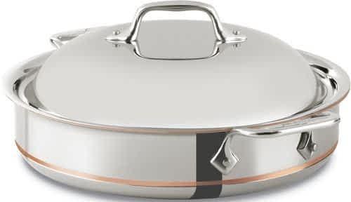 All-Clad Copper Core sauteuse pan