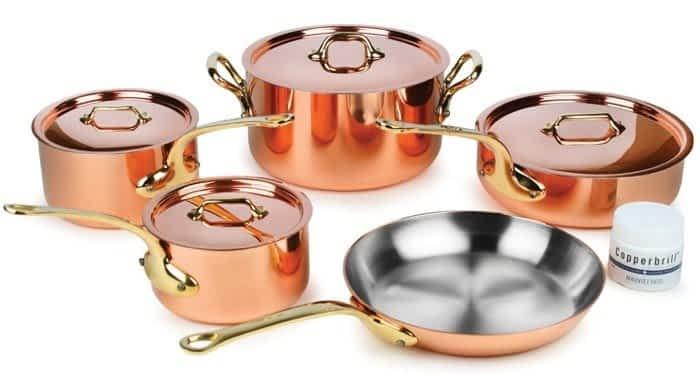 Mauviel Set (best cookware brands)