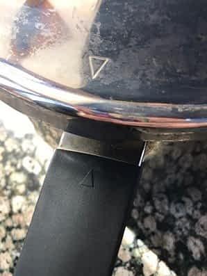 Kuhn Rikon pressure cooker lid alignment arrow